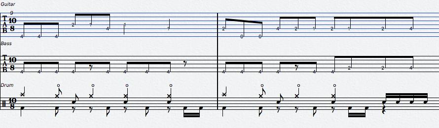楽譜のサンプル